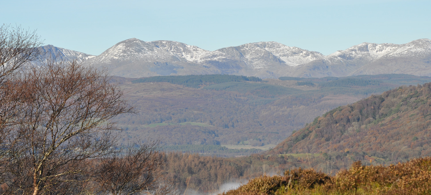 View to mountains of Lake District